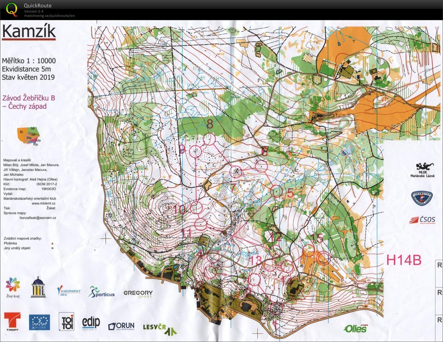 Zb Marianske Lazne June 15th 2019 Orienteering Map From